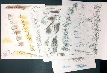 挿絵入り本 Masson - Léna Leclercq. POÈMES INSOUMIS. 10 lithographies signées (1963)
