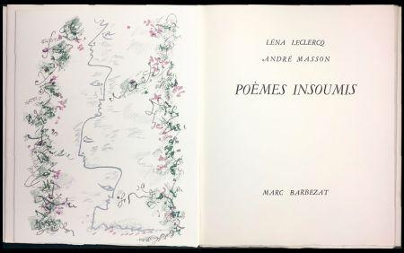 挿絵入り本 Masson - Léna Leclercq. POÈMES INSOUMIS. 8 lithographies en couleurs (1963)