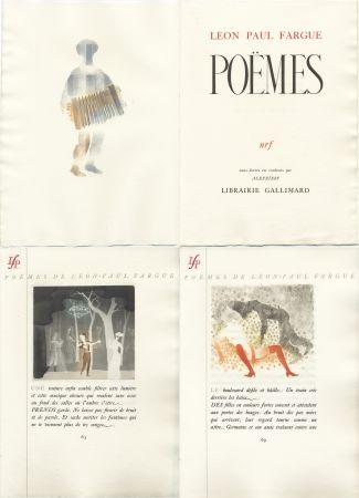 挿絵入り本 Alexeïeff - Léon-Paul Fargue : POÈMES. Eaux-fortes en couleurs par Alexeïeff (1943)