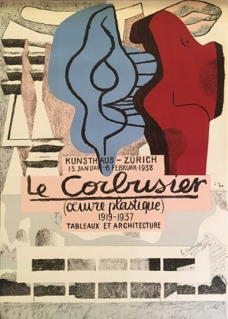リトグラフ Le Corbusier - L'Œuvre Plastique, Kunsthaus Zürich  (hand-signed)