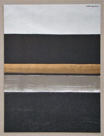 リトグラフ Bergmann - L 11 - 1970 Horizon noir