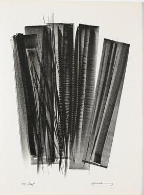 リトグラフ Hartung - L 162 (Jean Cassou: vingt-deux poèms)