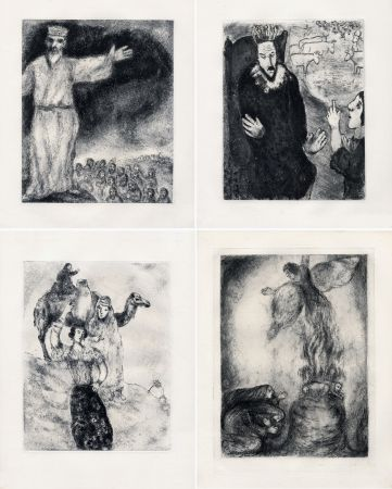 エッチング Chagall - LA BIBLE. (Suite des eaux-fortes gravées de 1931 à 1939 - Tériade 1956).