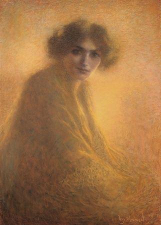 技術的なありません Levy Dhumer - La Bienveilleante / The Kind Lady - Dessin Original / Original Drawing - PASTEL - 1917