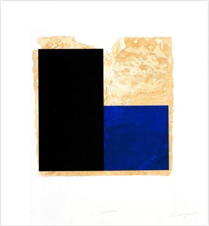 エッチング Canogar - La Bienvenida (azul)