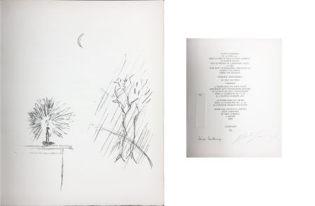 リトグラフ Giacometti - LA BOUGIE (The candle). 1961. Lithographie originale