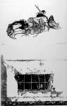 エッチング Vespignani - La carcassa - Finestra sul cortile
