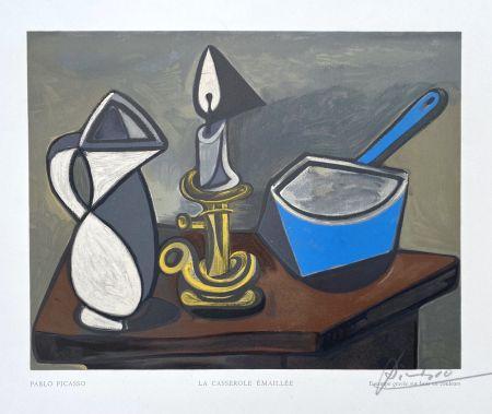 木版 Picasso - La casserole émaillée