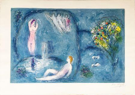 リトグラフ Chagall - LA CAVERNE DES NYMPHES (Daphnis & Chloé: de la suite à grandes marges) 1961.