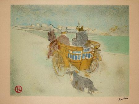 リトグラフ Toulouse-Lautrec - La charette anglaise