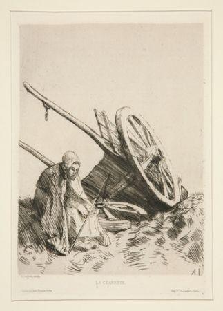 彫版 Legros - La charrette brisée
