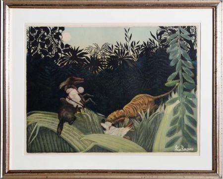 エッチングと アクチアント Villon - La Chasse au Tigre after Rousseau