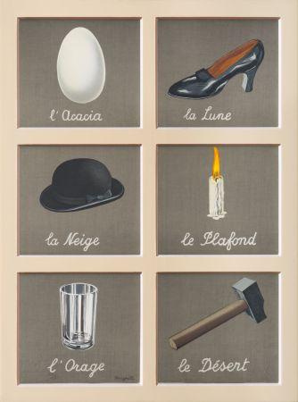 リトグラフ Magritte - La Clé Des Songes