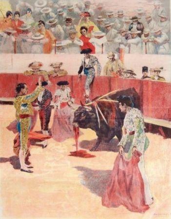 リトグラフ Lunois - La Corrida: