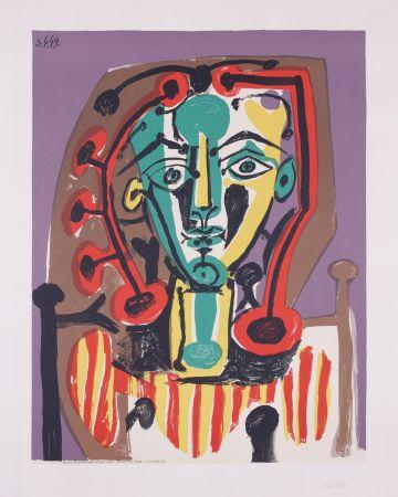 リトグラフ Picasso - La corsage Raye