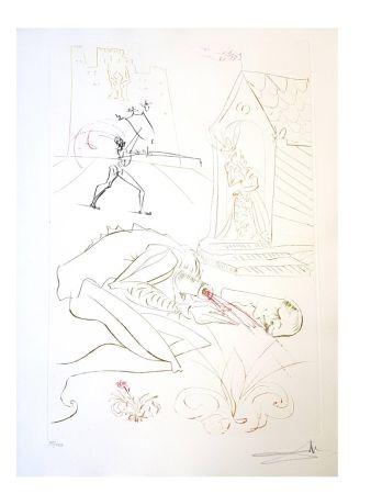 リトグラフ Dali - La Dame de Malehaut