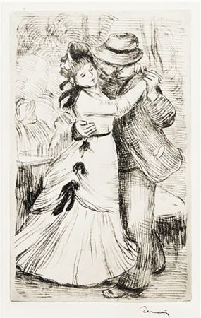 彫版 Renoir - LA DANSE À LA CAMPAGNE (1890)