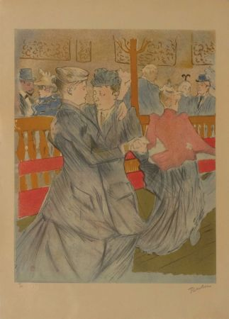 リトグラフ Toulouse-Lautrec - La danse au Moulin Rouge