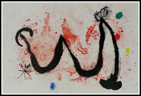 リトグラフ Miró (After) - LA DANSE DU FEU