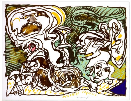リトグラフ Alechinsky - La dernière coquille