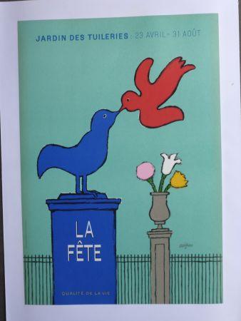 掲示 Savignac - La fête au jardin des Tuileries