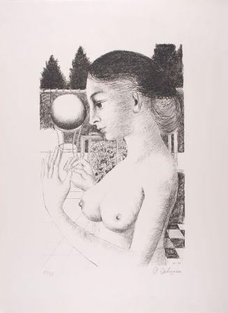 リトグラフ Delvaux - La Femme à la Boule