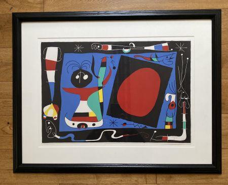 リトグラフ Miró - La Femme Au Miroir