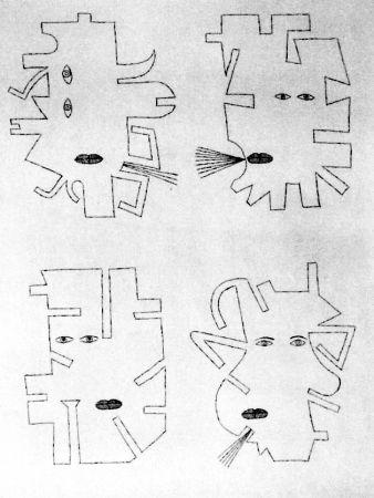 エッチング Brauner - La figure se mimetise à l'image de l'outil