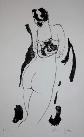 リトグラフ Bonnefoit - La fille aux bras croisés / The Girl with arms crossed
