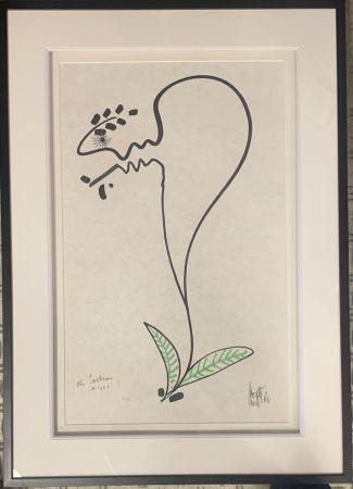 リトグラフ Cocteau - La fleur
