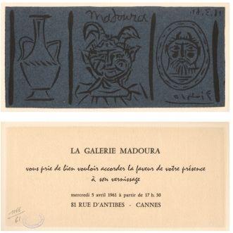 リノリウム彫版 Picasso - La Galerie Madoura