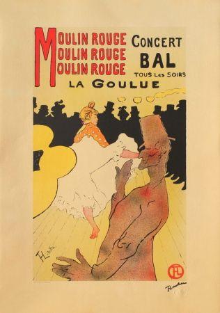 リトグラフ Toulouse-Lautrec - LA GOULUE AU MOULIN-ROUGE II