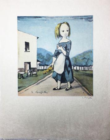 リトグラフ Foujita - La jeune fille au pain (1963)