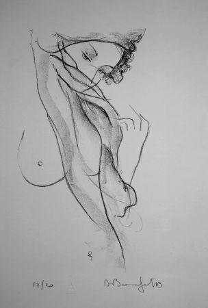 リトグラフ Bonnefoit - La jeune Fille au voile / The Girl with a Veil