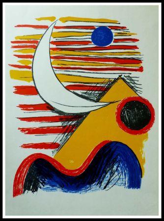 リトグラフ Calder - LA LUNE ET LA MONTAGNE