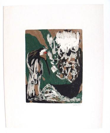 木版 Jorn - La Mère Ibis