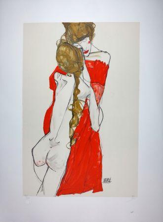 リトグラフ Schiele - La Mère & la fille / Mother and Daughter - 1913