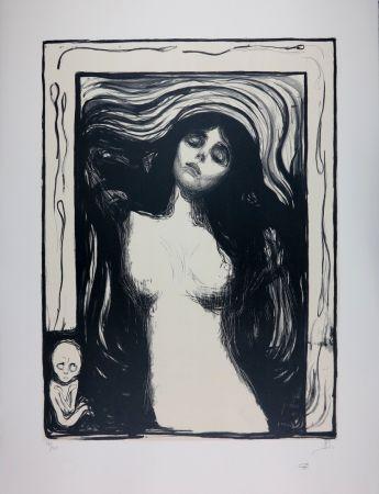リトグラフ Munch - LA MADONE / MADONNA - 1895