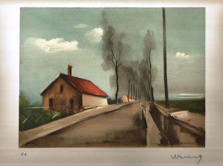 リトグラフ Vlaminck - La maison dans la plaine