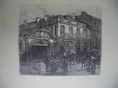 木版 Lepere - La maison où mourut Béranger
