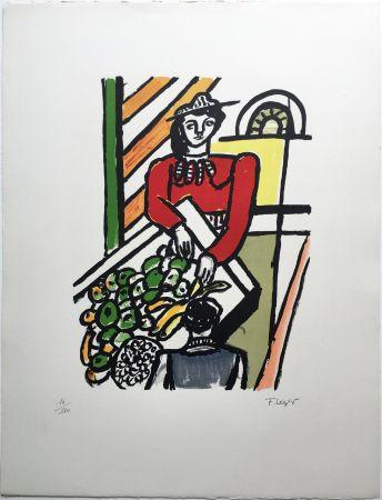 リトグラフ Leger - LA MARCHANDE DE QUATRE SAISONS (1959).