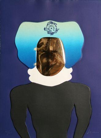 沈み彫り Cuevas - La Mascara from the Homage to Quevedo Portfolio