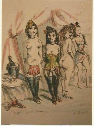 彫版 Foujita - La Mesangere (Four prostitutes)