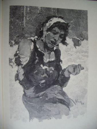 木版 Vierge - La misère à Londres