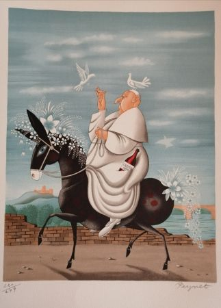 リトグラフ Peynet - La Mule du Pape