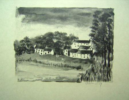 リトグラフ Vlaminck - La Naze, le Village