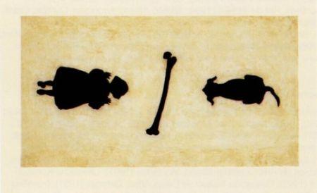 彫版 Santibañez - La niña y el perro