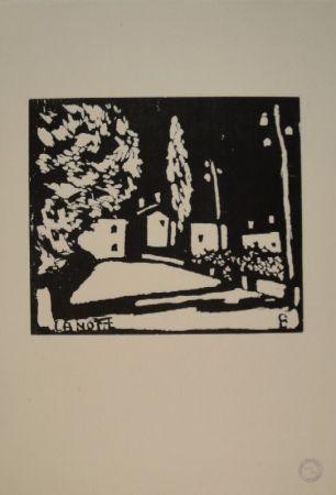 木版 Giacometti - La Notte I
