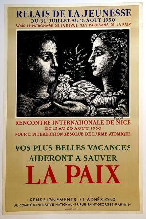 リトグラフ Picasso - La Paix - Relais de la Jeunesse