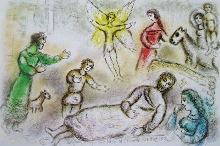 リトグラフ Chagall - La Paix Retrouvee - L'odyssee Ii